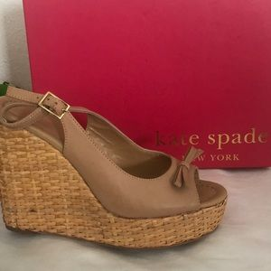 Kate Spade Della Bow Front Wedges